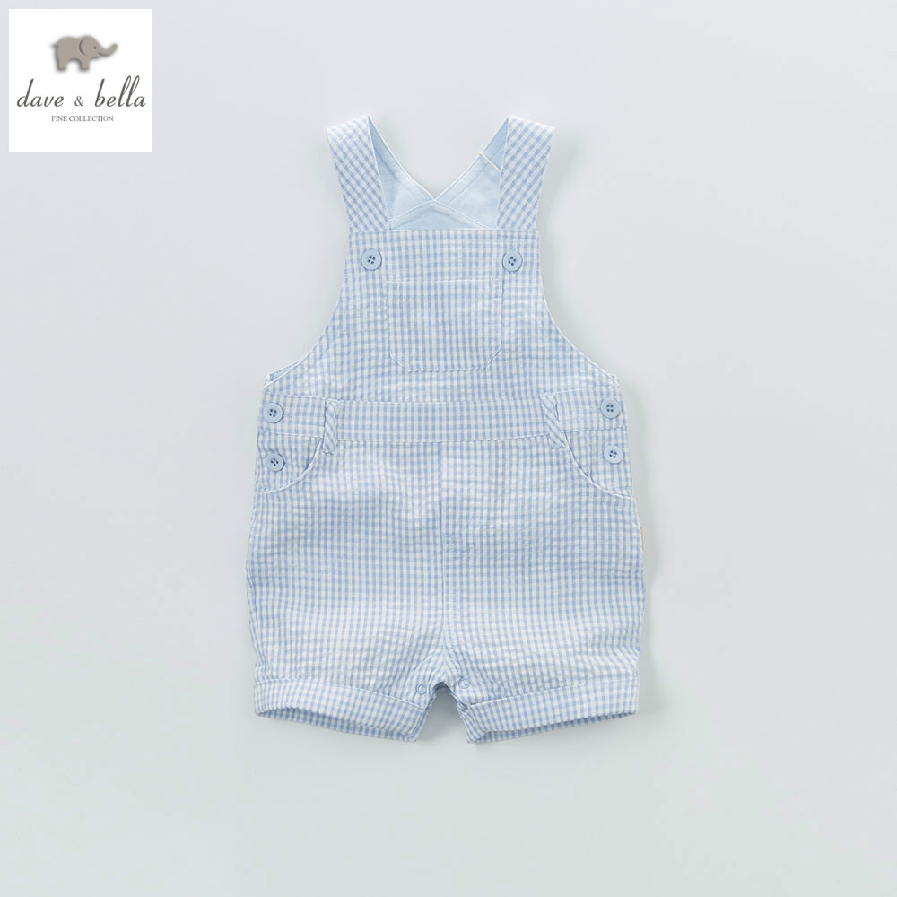 DB4608 dave bella summer new born baby cotton romper infant romper lively rompers 1 pc