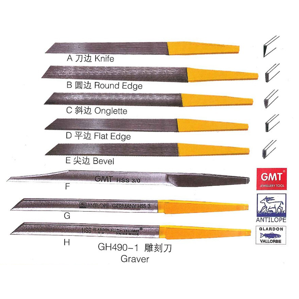 8PCS Graver Max Knife Have Different Knife Shape For Jewelry Engraving Rubber Handle Jewelery Tool