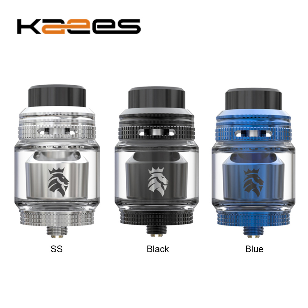 KAEES <font><b>Solomon</b></font> <font><b>3</b></font> <font><b>RTA</b></font> 5.5ml Capacity with Postless Deck for Single / Dual Coils Build & Two Interchangeable Internal Airflow Caps image