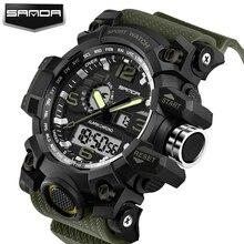 цена 2017 New Shock Men Sports Watch Military Army Analog Digital LED Electronic Quartz Wristwatches 50M Waterproof relogio masculino онлайн в 2017 году