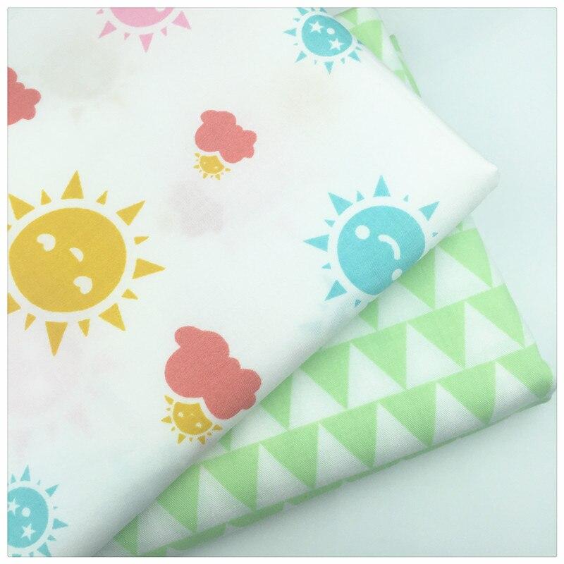 Nuevos nubes sol gotas de lluvia imprimir tela de algodón por metro de la tela t