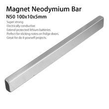 1PC 100 x10 x5 mm Long Cuboid Block Bar Super Strong Rare Earth Neodymium Permanent Magnet N50 1pc 50 x 10 x 5 mm square block long bar super strong magnet rare earth neodymium permanent magnets n50 powerful