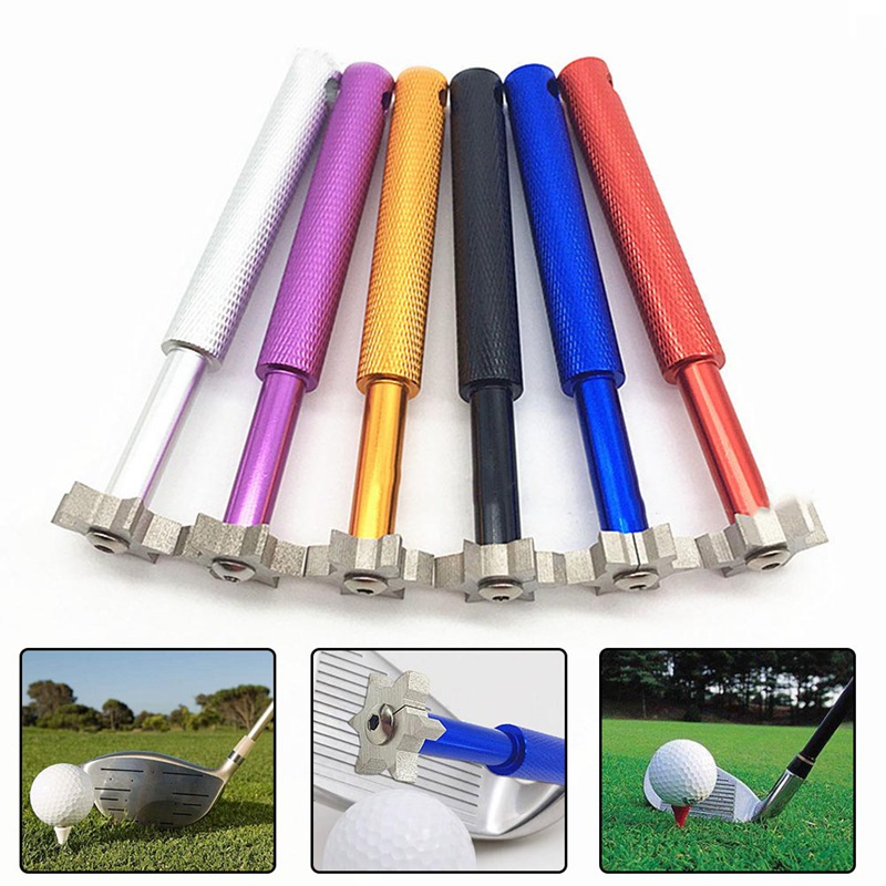 Golf Cleaning Knife Blade Cutters Head Golf Club Sharpener Groove Wedge Cleaner Regrooving Tool Cleaning Golf Accessories Iron