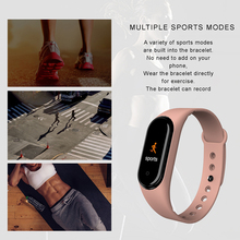 M4 Smart Bracelet Band Fitness Tracker Heart Rate Blood Pressure Messages Reminder Color Screen Sport Wristband band