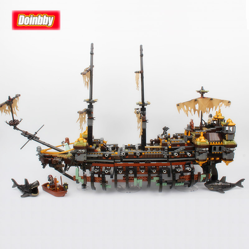 Lepin 16042 2344Pcs Pirates of The Caribbean Movie Captain Jack Silent Mary Model Building Block Bricks Toys Kid Gifts 71042 купить