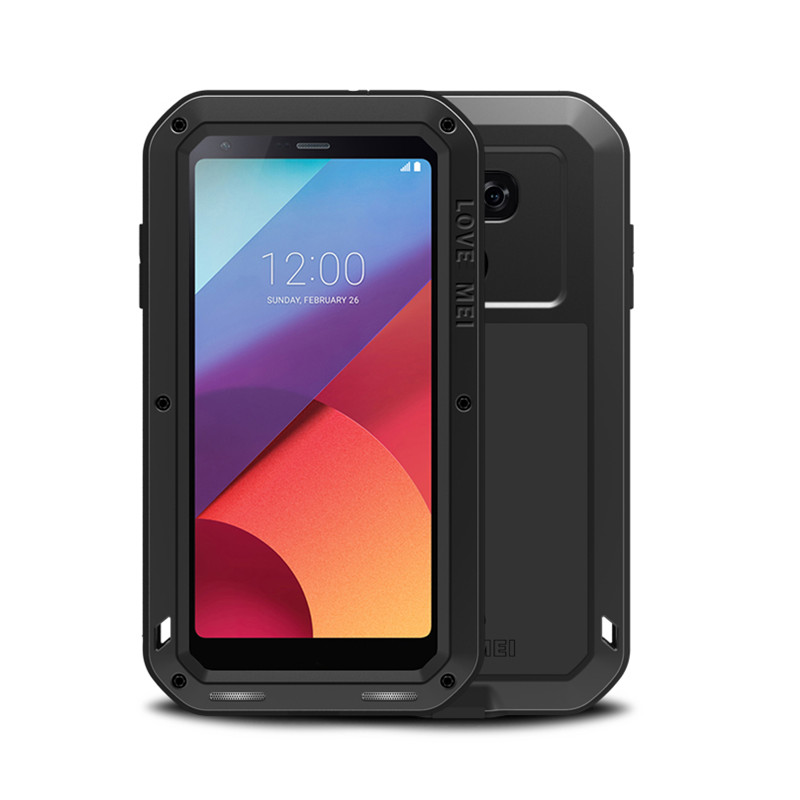 Aluminum Metal Armor Case For LG G6 G5 G4 Dropproof Gorilla Glass Shockproof Cover Full Body Phone Protective Case For LG G6 G4