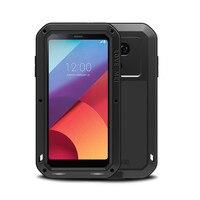 Aluminum Metal Armor Case For LG G6 G5 G4 Dropproof Gorilla Glass Shockproof Cover Full Body Phone Protective Case For LG G6 G4