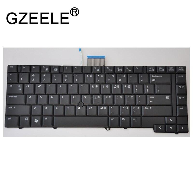 GZEELE NEW Laptop Keyboard For HP EliteBook 6930 6930P 483010-001 468778-001 V070530AS1 Black US version brand new black laptop notebook keyboard 483010 dj1 490170 001 for hp compaq 6930p series greece 100
