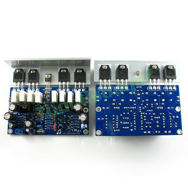 LJM-Oi-end de Áudio L20 200 W 8R V9.2 Audio Stero Amplificador Board com alumínio Ângulo (montado Amp board, incluem 2 bobards)