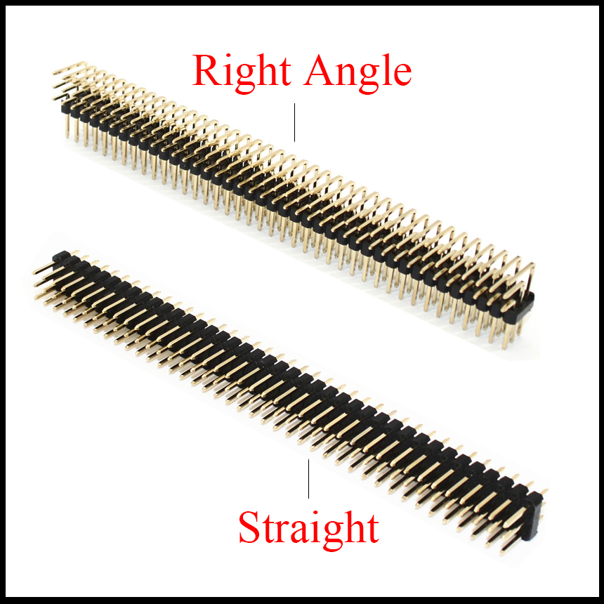 3*40 3x40 <font><b>Pin</b></font> 120P 2.54mm Pitch Space Golden Plated Three Triple Row Straight Right Angle PCB Male IC <font><b>Connector</b></font> <font><b>Pin</b></font> <font><b>Header</b></font> <font><b>Strip</b></font> image