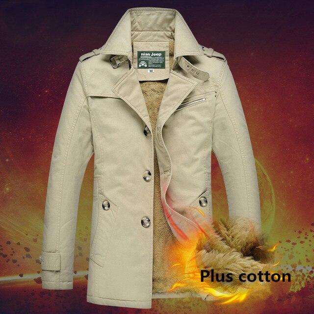 Горячая осень и зима мужские случайные куртка пальто Шинель Бесплатная Доставка