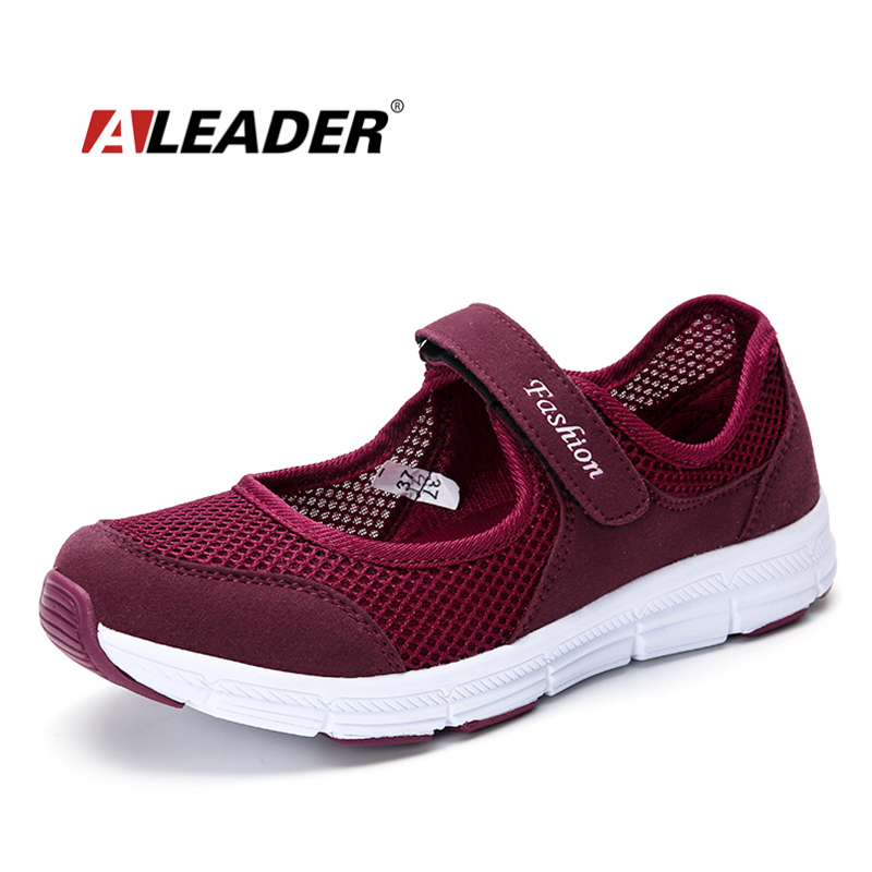 Aleader Comfortable Women Shoes Summer Mesh Slip On Flats Women Casual Outdoor Walking Shoes Soft Working shoes zapatillas mujer new summer zapato women breathable mesh zapatillas shoes for women network soft casual shoes wild flats casual