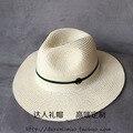 Moda doble negro m verde oscuro de dos colores cinta elegante sombrero del sol-shading strawhat femenino casquillo de la playa del verano sol-shading