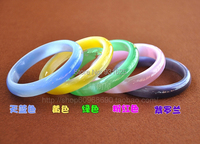 1pcs Yellow 10mm Wide Opal Stone Bracelet Bangle 59mm Inner Diameter Free Shipping
