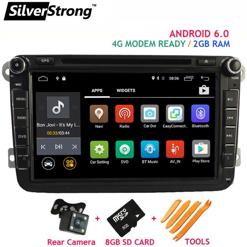imágenes para ENVÍO LIBRE Android6 2 GB RAM Coche Reproductor de DVD para VW Golf mk6 5 Jetta Polo Tiguan Passat B6 5 cc para skodaoctavia fabia AD66S