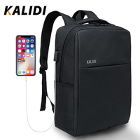 KALIDI Fashion Casual Laptop Backpacks Men Canvas 15.6 inch Backpack Travel For Teenage Male School Bags 17.3 inch Backpacks