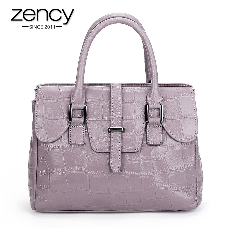 New font b Luxury b font famous brand togo Crocodile Embossed Genuine Leather font b Bags