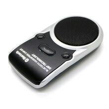 Solar Powered Altavoz Inalámbrico de manos libres Bluetooth Kit de Coche Manos Libres Para Teléfono Móvil Manos Libres de Color Negro