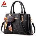 Женщины сумка моды сумочку crossbody сумка роскошные сумки дизайнер леди сумки посыльного Волосы мяч подвески и ленты