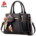 Women bag fashion handbag crossbody Shoulder bag luxury handbags designer Lady's messenger bags Hair ball pendants and ribbon