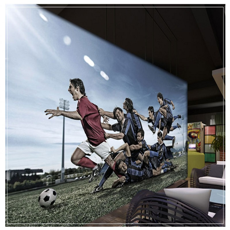 Custom photo wallpaper Custom Wallpaper Basketball Soccer Theme KTV Bar Wallpaper Living Room Bedroom Background Wall Mural free shipping basketball function restaurant background wall waterproof high quality stereo bedroom living room mural wallpaper