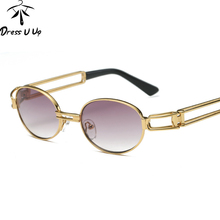 DRESSUUP Steampunk Óculos De Sol Retro Redonda Pequena Óculos De Sol Dos  Homens Do Vintage Do Sexo Masculino Mulheres Óculos UV4. fb600d0bf9