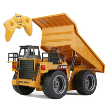 RC Truck Toys Six Channel 6CH 1 12 40HMZ Metal Dump Trucks Remote Control Toys