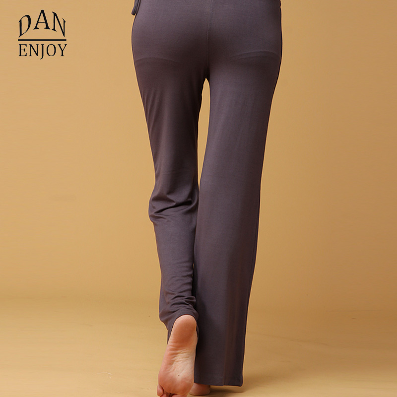 46d75669eb142 Women Modal Yoga Leggings Pants Loose Elastic Running Dance Gym Workout Wear  Fitness Training Sports Trousers Sides Bow C075-in Yoga Pants from Sports  ...