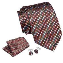 Colorful Dot  men ties set Extra Long Size 145cm*7.5cm Necktie navy blue Paisley Silk Jacquard Woven Neck Tie Suit Wedding Party