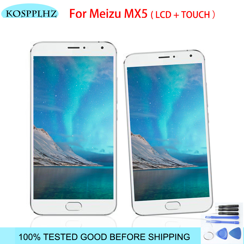 black/white 5.5 Inch For <font><b>Meizu</b></font> <font><b>MX5</b></font> <font><b>LCD</b></font> <font><b>Display</b></font>+<font><b>Touch</b></font> <font><b>Screen</b></font> high quality <font><b>Screen</b></font> Digitizer Assembly M X 5 With Tools image