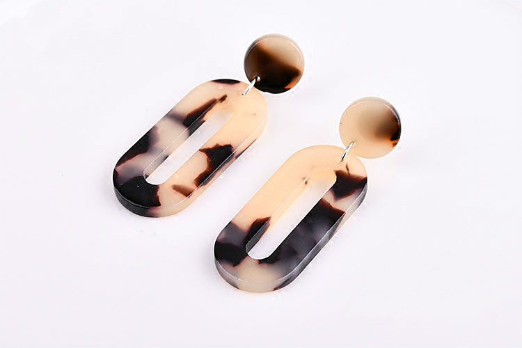 Diy handmade ear accessories Japan and south Korea harajuku acetic acid oval pattern road earrings earring clip materials in Jewelry Findings Components from Jewelry Accessories