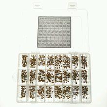 24 Valores 840 pcs 0.1uF ~ 47nF 0.15 uF 0.22 uF 0.33 uF 0.47 uF 0.68 uF 1 uF 2.2 uF Multilayer/Monolithic Ceramic Capacitor Kit Sortido