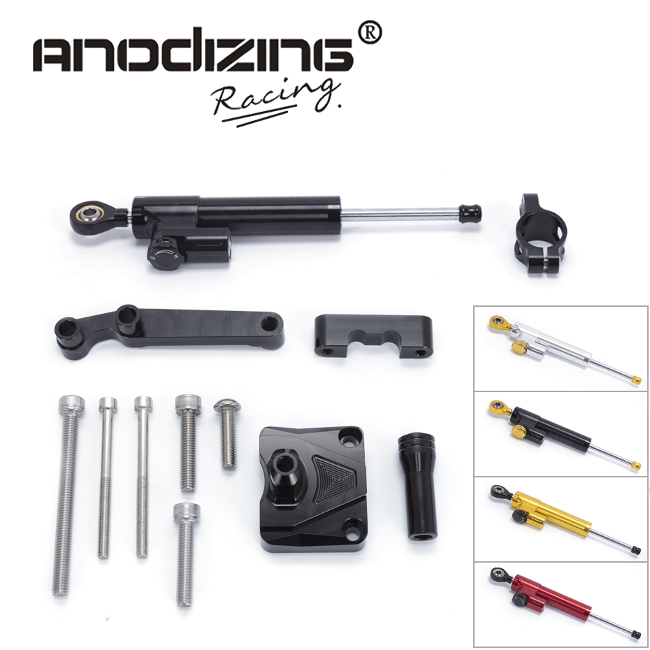 FREE SHIPPING For KAWASAKI NINJA 250R EX250 2008 2012 Steering Damper Stabilizerlinear Reversed Safety Control with Bracket