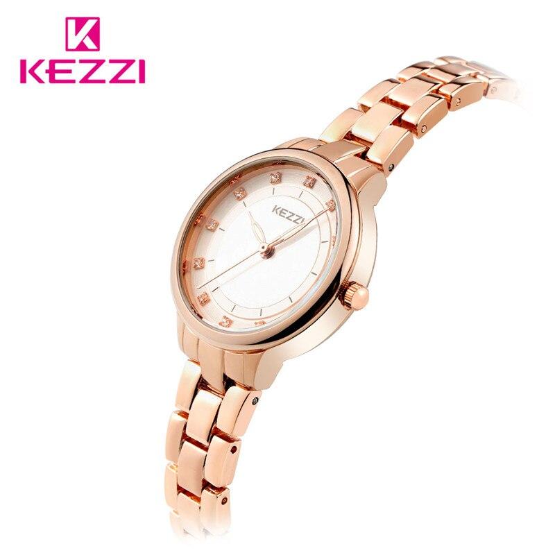 KEZZI Top Brand Fashion Watch Designed For Women Simple Luxury Bracelet Elegant Dress Watch Ladies Popular Quartz Clock Kw-1446 2016 kezzi luxury fashion women ceramic dress watch for lady girl bling vintage quartz analog wristwatch kw 1238