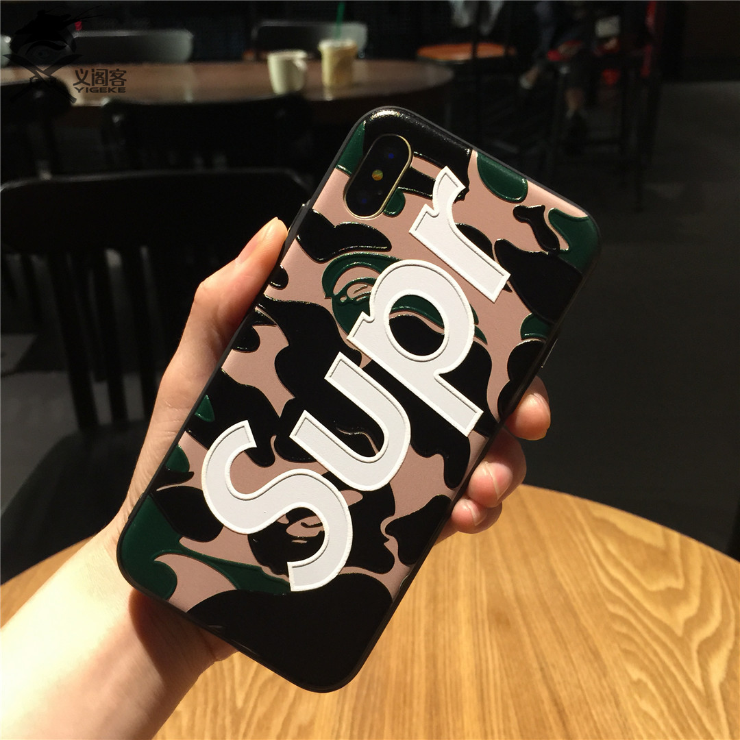 Phone Case For iphone X 8 7 plus cases TPU Soft Cover for iphone 6 6s plus Luxury Comfortable feel apple . Brilliant letters Sup