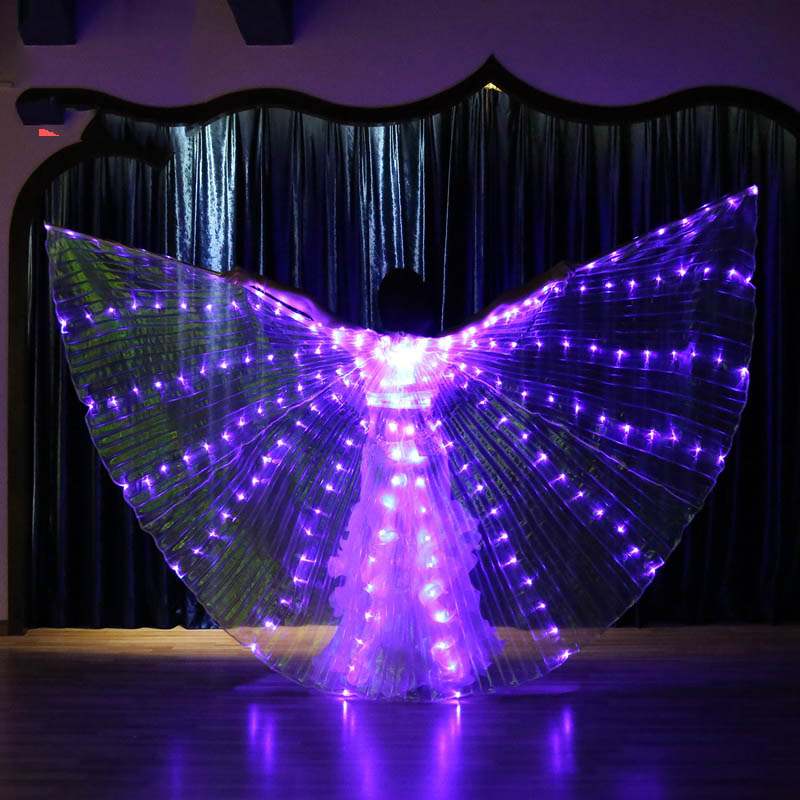2019 Belly Dance LED Twinkling Lights Wings Fairy Glowing Indian Dancing Accessories Belly Dance Light Show Glittering