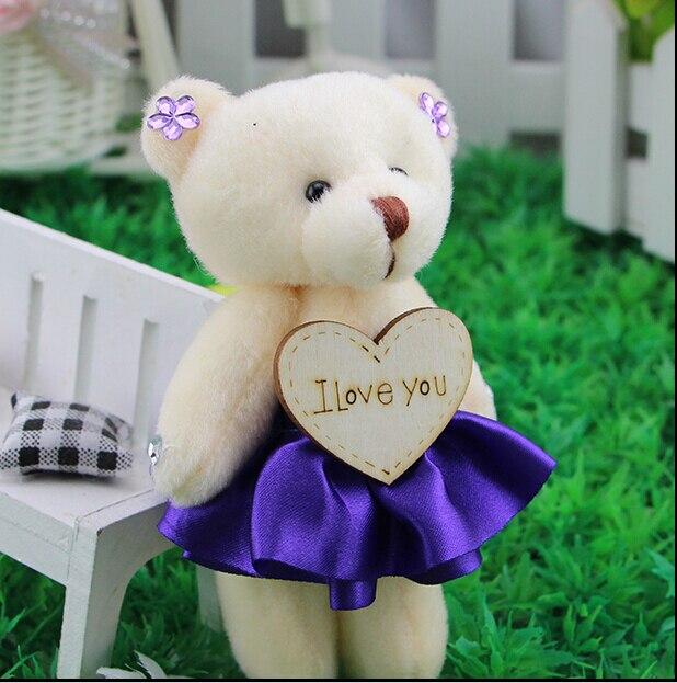 12cm wooden I LOVE YOU teddy bears wedding gift teddy bear ...