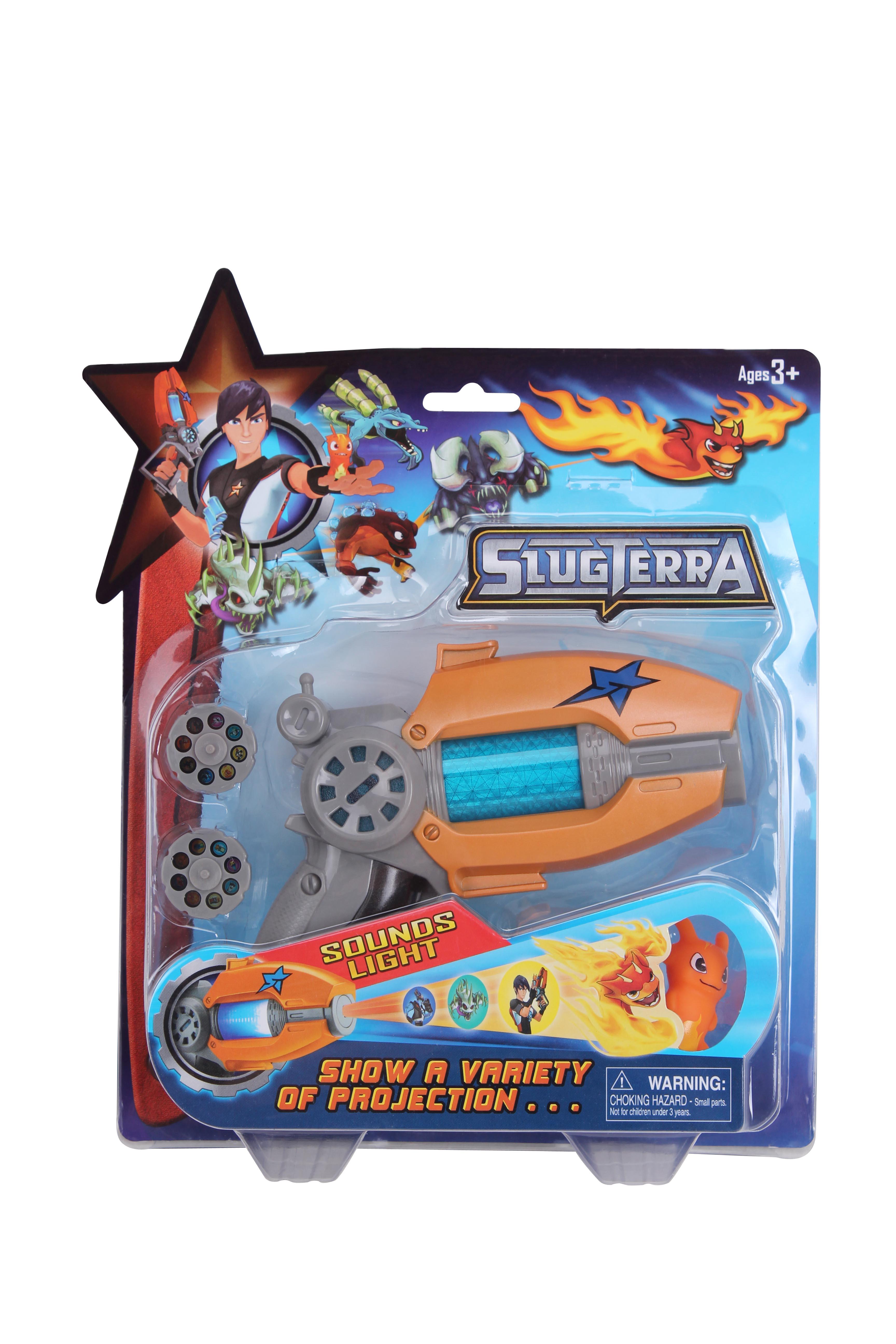 Children Gifts Slugterra Toy Projector Gun Slugterra Elves 16 Kinds Light Flash Music Projection Toy Gun Slager Elf Small Doll