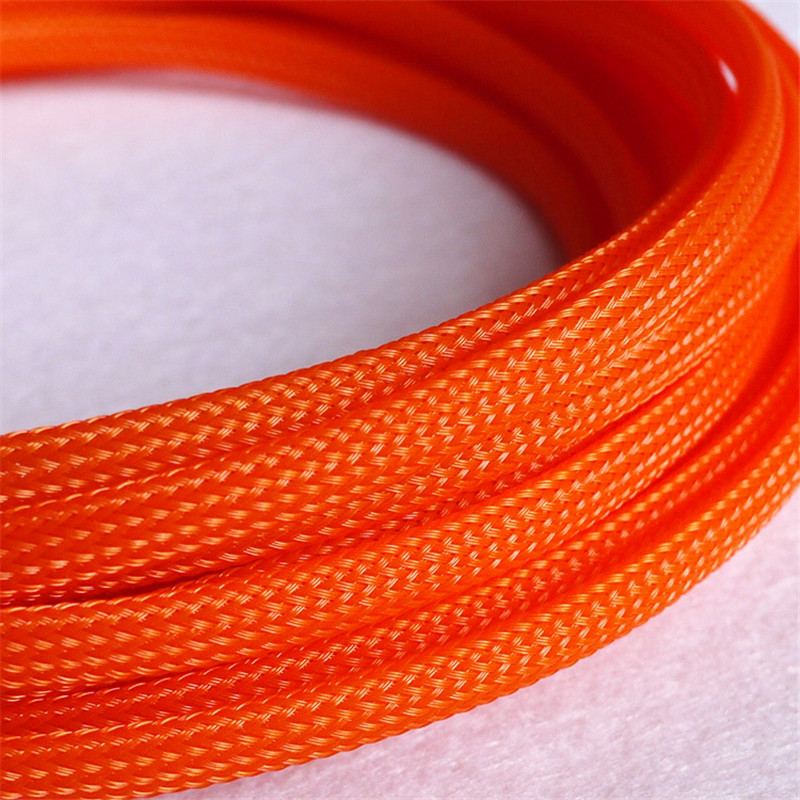 High quality 12mm Braided PET Expandable Sleeving High Density Sheathing Plaited 2018 tns 1:1 quality 6mm braided cable wire sheathing sleeving harness expandable sleeving wire 20m mix color