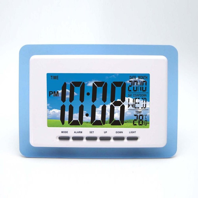 Wireless Weather Station White with Blue Transparent Frame and ...