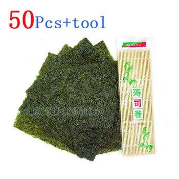 Juego de 50 unidades de Sushi Nori + manteles de bambú enrollables...