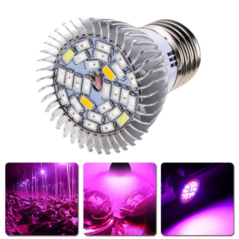 CSS 28W Full Spectrum E27 Led Grow Light Growing Lamp Light Bulb For Flower Plant