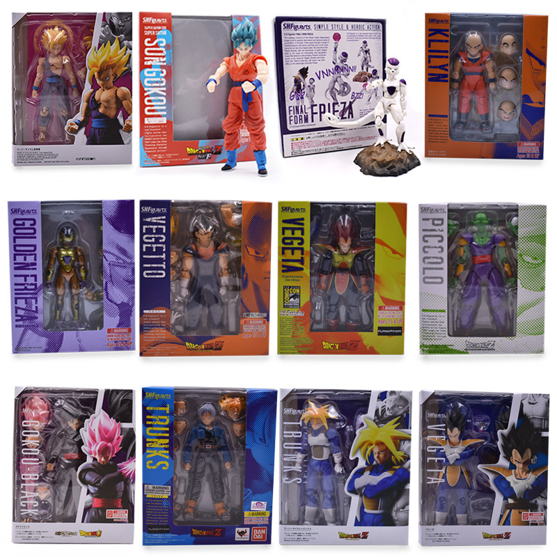 17cm Dragon Ball Z Action Figure SHF Super Saiyan Son Goku Gohan Vegetto Vegeta Trunks freeza Piccolo krillin PVC Figure Kid Toy 50 set kit vh3 96 3 96mm 4 pin female 22awg wire with male connector a set include socket plug terminals