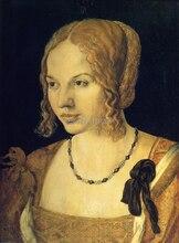 Canvas painting mural prints Albrecht Durer Young Venetian Woman masterpiece reproduction  vintage style a durer albrecht durers unterweisung der messung