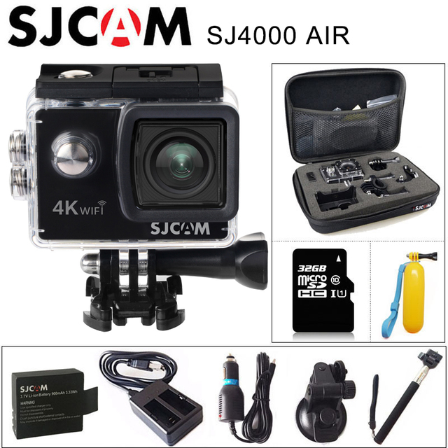 "SJCAM SJ4000 4 AR K Action Camera Full HD 30fps 4 K WIFI 2.0 ""Tela Mini Capacete de Vídeo À Prova D' Água gravação DV Cam Esportes"
