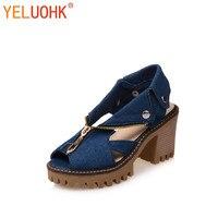 35 43 Plus Size Platform Sandals Women Canvas Women Sandals High Quality