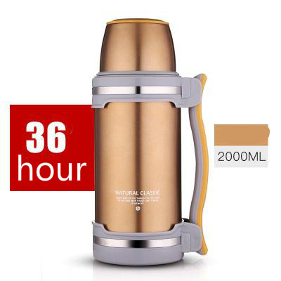 2L Travel Thermos Stainless Steel Tumbler Vacuum Flask Water Bottle Coffee Insulated Cup Traveling Hiking Hot