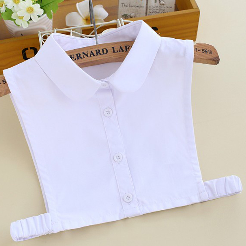 Fit For 3-10years Child Embroidery Cat Fake Shirt Collar Cotton Denim Shirt Pure White Small Fake False Collar Baby Decoration