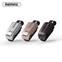 Remax T12 Collar Clip On Voice Prompt Retract Cable Bluetooth Earphone Headset Retail Package