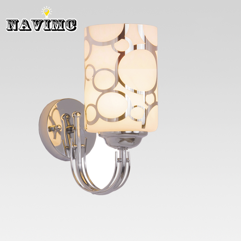 Us 21 99 50 Off Glass Sconces Reading Lamps Wall Mounted 110v 220v Crystal Sconce Led Wall Lamp Bedroom Wall Lighting Contemporary In Led Indoor